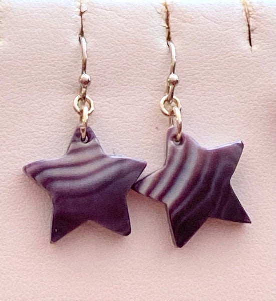Wampum Star Earrings - Sterling Silver Earwire