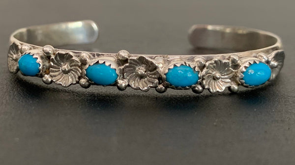 Turquoise and Sterling Silver Cuff