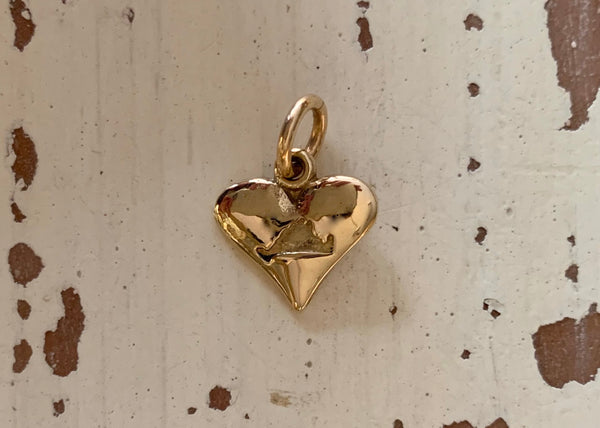 14k Martha's Vineyard Heart Charm