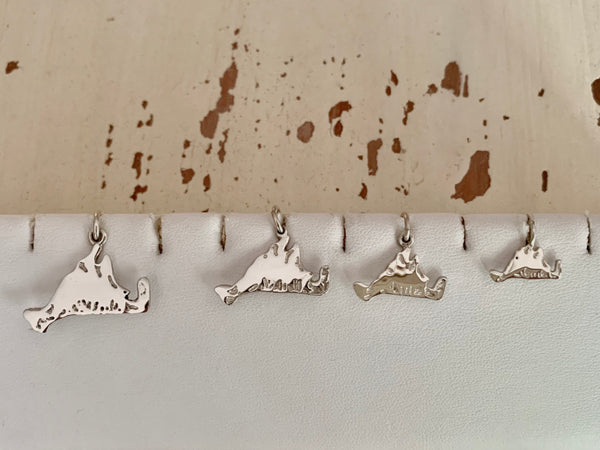 Sterling Martha's Vineyard Map Charms