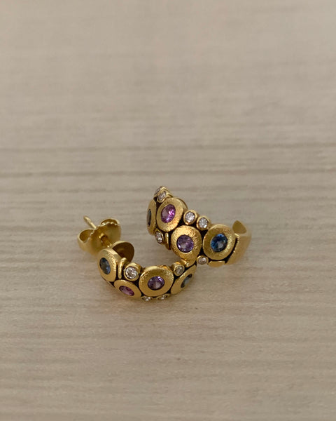 18k Alex Sepkus Candy Stud Earrings