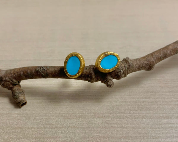 Turquoise Wonder Earrings - Nava Zahavi