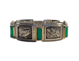 Fish Picture Bracelet - Silver, Chrysoprase - Paul D'Olympia, 7in