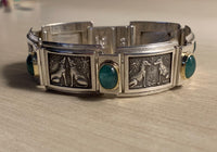 Courtship Picture Bracelet - Silver, Green Aquamarine - Paul D'Olympia, 7in