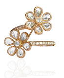 18k Rose Gold Ring with Diamonds - size 5.5