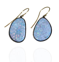 John Apel Diamond Opal Drop Earrings
