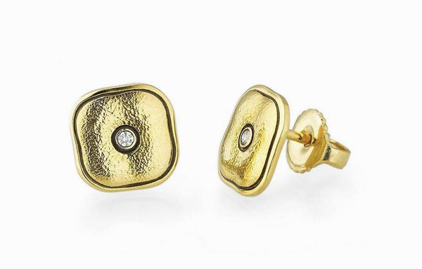 Copy of 18k and Diamond Alex Sepkus Pillow Stud Earrings