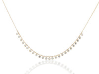 18k Gold John Apel Necklace With Diamond Droplets