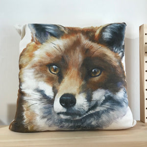 Fox face cushion