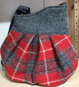 Harris Tweed crossover bag