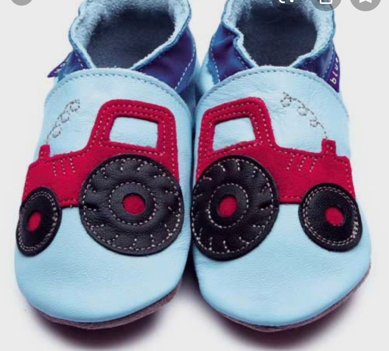 Tractor Baby Blue shoes 6-12mths