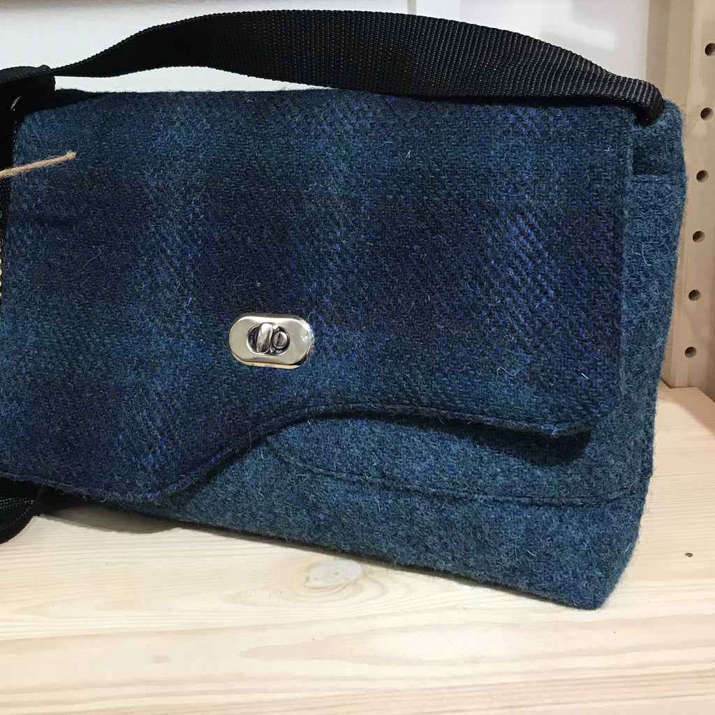 Harris Tweed blues crossover/ shoulder bag Special Price