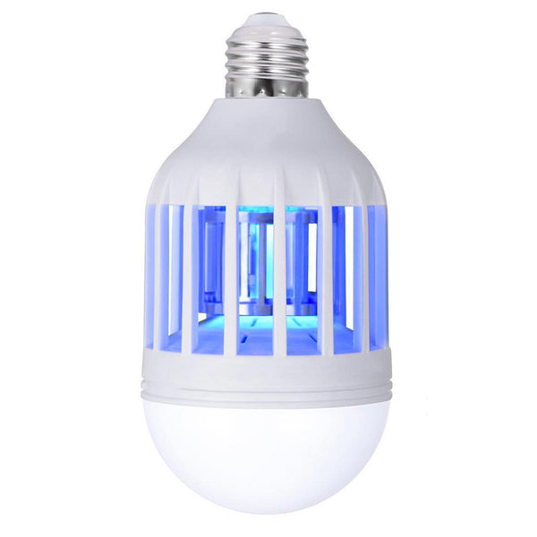 Ampoule 2 en 1 anti-moustique destructeur d'insecte LED E27 blanc/bleu BULBY MOSQUY H15cm