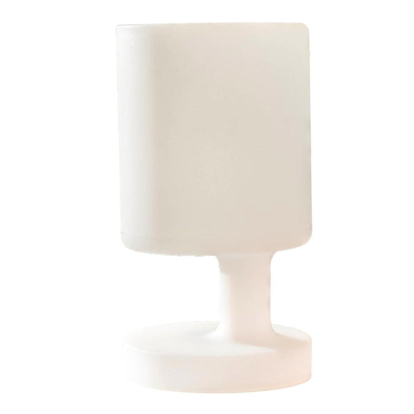 Lampe de table sans fil pied excentré LED blanc chaud dimmable BABY H28cm - REDDECO.com