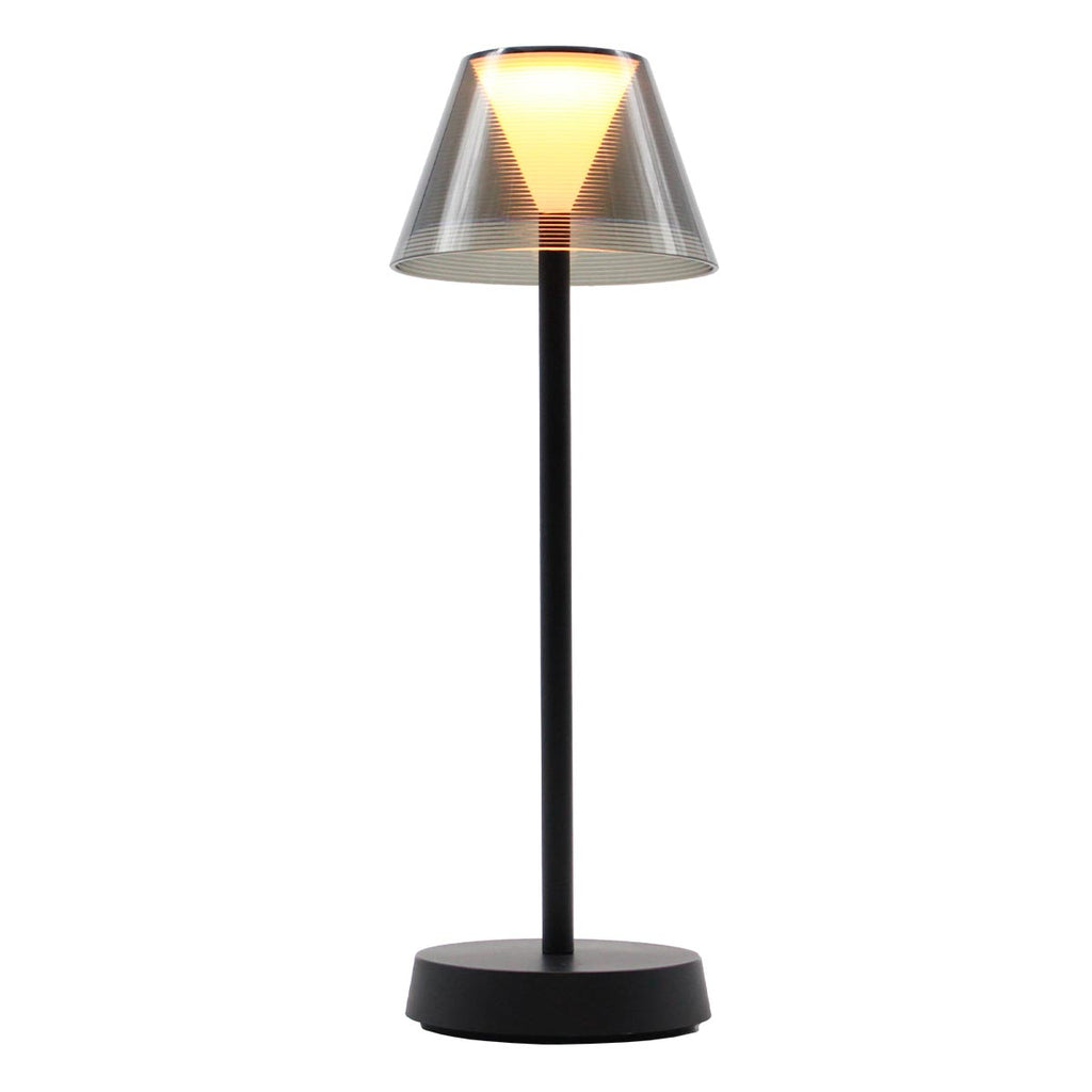 Lampe de table sans fil LED blanc chaud BEVERLY BLACK H34cm - REDDECO.com