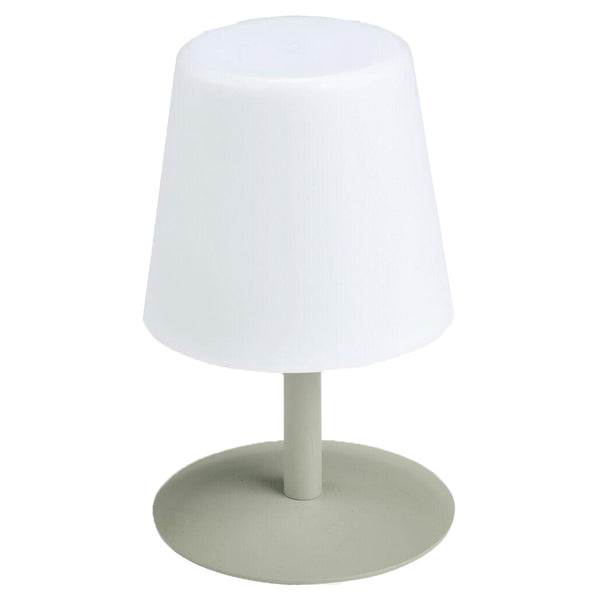 Lampe de table LED sans fil pied en acier Moss Green STANDY MINI H25 Collection Capsule - REDDECO.com