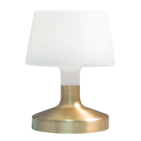Lampe de table touch design sans fil pied en acier doré LED blanc chaud/blanc dimmable HELEN GOLD H21cm - REDDECO.com