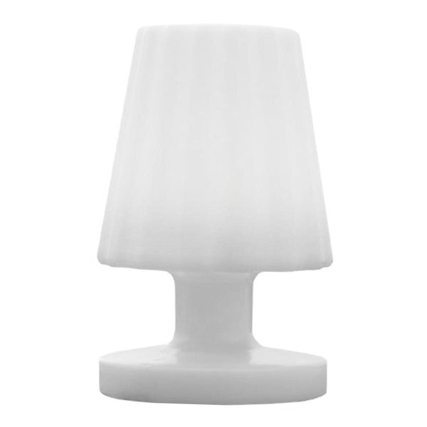 Mini lampe à poser rechargeable sans fil LED blanc chaud dimmable LADY MINI H22cm - REDDECO.com