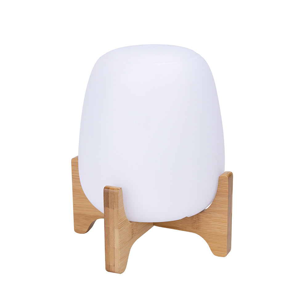 Lampe de table sans fil  avec support en bois dimmable PALMY H26cm LED blanc/multicolore