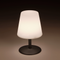 Lampe de table sans fil pied en acier gris LED blanc chaud/blanc dimmable STANDY MINI Rock H25cm