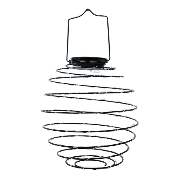 Suspension solaire spirale métal micro LED blanc chaud ORION H37cm - REDDECO.com