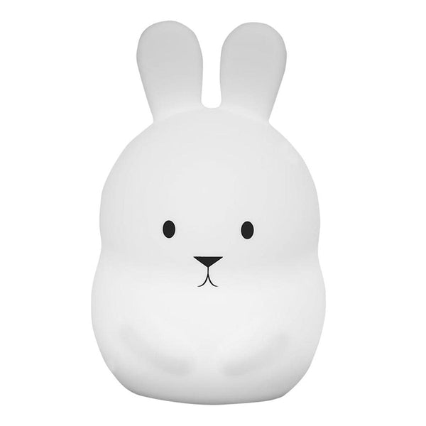 Veilleuse bébé lapin sans fil touch souple LED multicolore dimmable BUNNY H19cm - REDDECO.com
