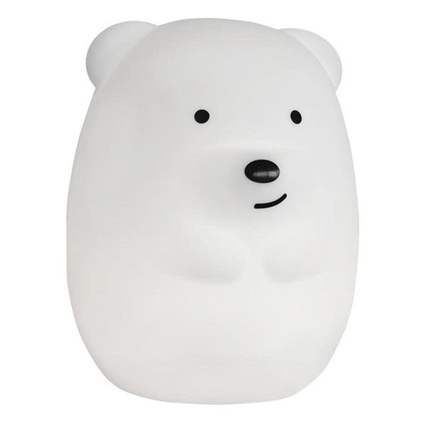 Veilleuse bébé ours sans fil touch souple LED multicolore dimmable TEDDY H19cm - REDDECO.com