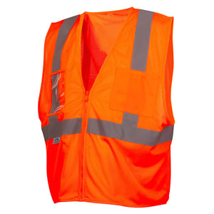 Safety Vest Type R Class 2 Mesh with Clear Pocket 5 / Case