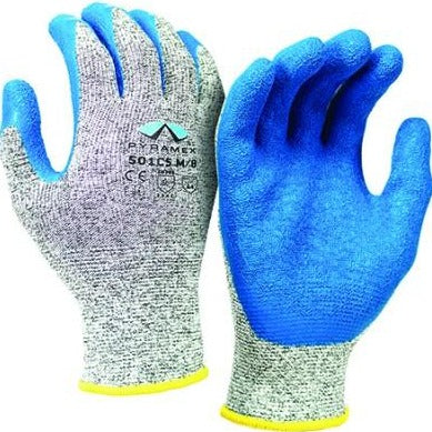 Pyramex Latex Dipped Cut A4/ Abrasion 4 Gloves 12 pairs / box