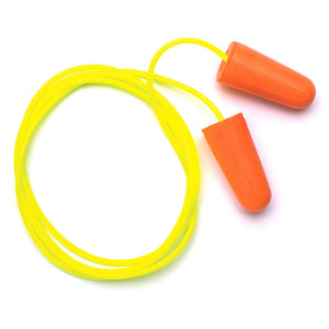 Disposable Corded Polyurethane Foam Ear Plugs 100 Pair / Box