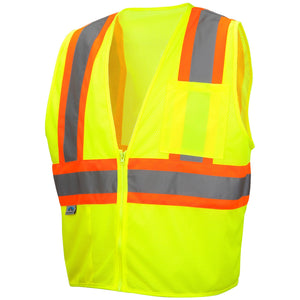 Type R Class 2 Self Extinguishing Two Tone Mesh Safety Vest 5 / Case