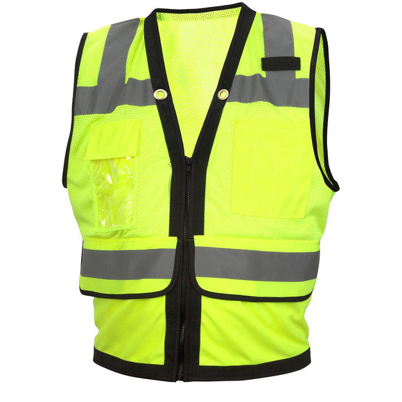 Type R Class 2 Heavy Duty Surveyor Zipper Safety Vest 5 / Case