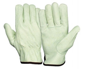 Grain Cowhide Leather Driver Gloves 12 Pairs/ Box