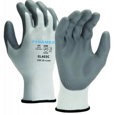 Pyramex Poylurethane Dipped Cut A2/Puncture 3 Gloves 12 pairs / box