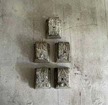 Load image into Gallery viewer, Set Of 5 Small 19th Century French Wooden Corbels