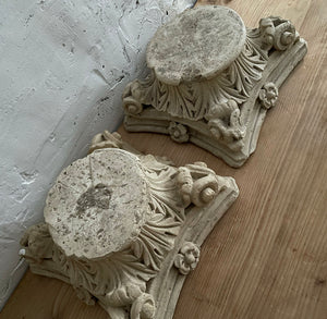 Pair Of 19th Century Sandstone Capitals