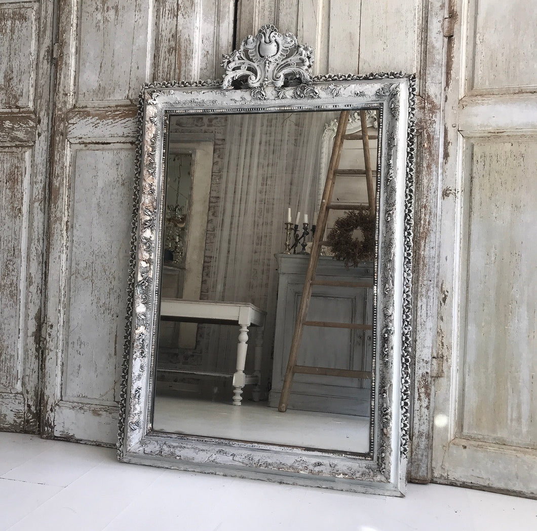 Original French Painted Mirror
