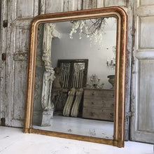 Load image into Gallery viewer, Large 19th Century French Gilt Louis Philippe Mirror