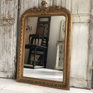 Gorgeously Knackered 19th Century French Crested Louis Philippe Mirror
