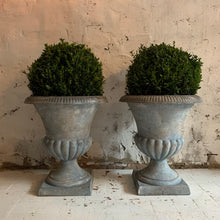 Load image into Gallery viewer, Pair Of 19th Century French Cast Iron Urns