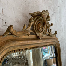 Load image into Gallery viewer, 19th Century French Crested Mirror