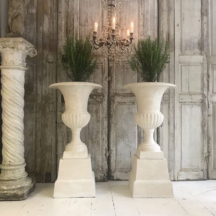 Gorgeous Pair Of French Cast Urns