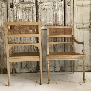 Gorgeous Pair Of 19th Century French Rattan Armchairs