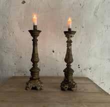 Load image into Gallery viewer, Pair Of 18th Century Italian Candlesticks