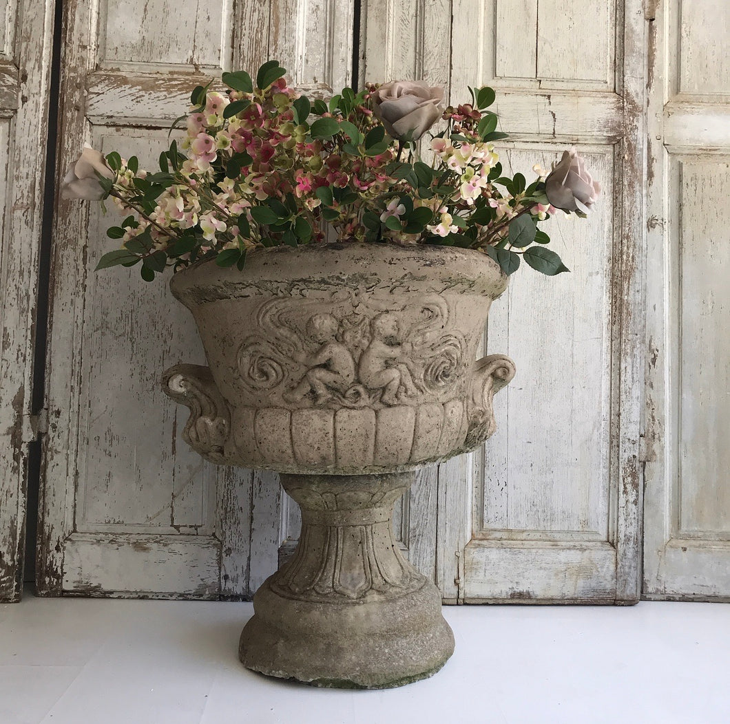 Gorgeous French Urn with Cherub Detail