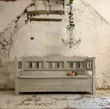 Load image into Gallery viewer, Gorgeously Knackered European Bench With Storage