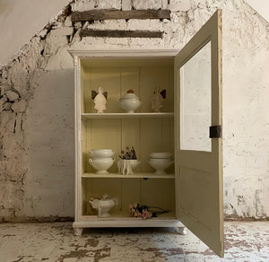Gorgeous French Painted Vitrine Cupboard
