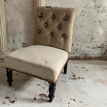 Load image into Gallery viewer, Pair Of 19th Century Napoleon III French Slipper Chairs