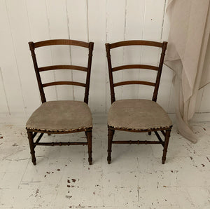 Gorgeous Pair Of 19th Century French Cushioned Child's Chairs