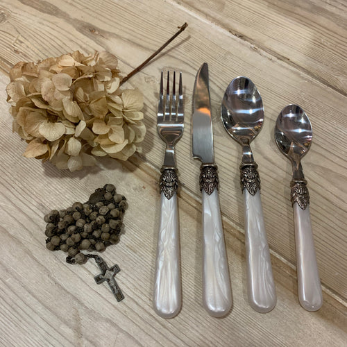 French Mother Of Pearl Cutlery Set
